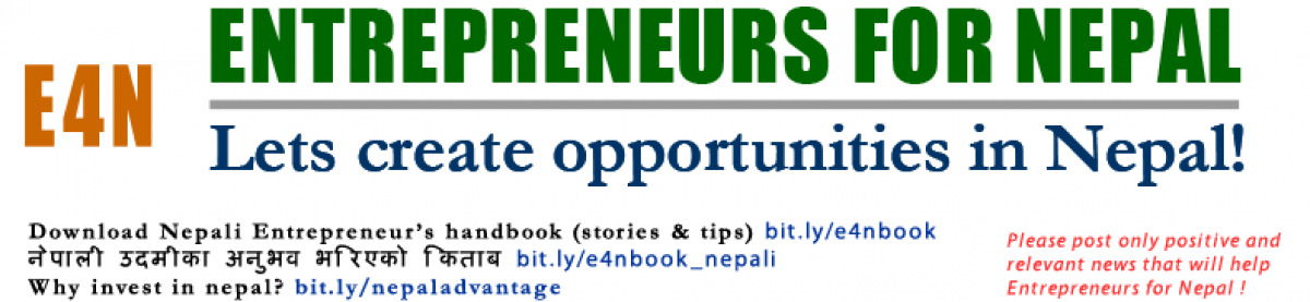 Entrepreneurs for Nepal (E4N)